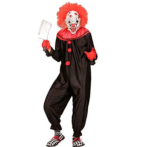 Imagen de traje clown de terror  xl es 54 | disfraz payaso asesino | disfraz bufón psicópata | mono arlequín terrorífico alternativa