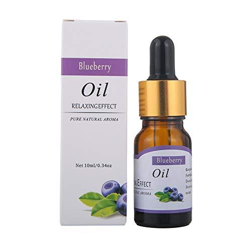 TAOtTAO 12 Fruchtaromen 10ml ätherische Öle Reine natürliche Aromatherapie-Öle wählen Duft Aroma Flower (Blaubeere)