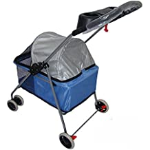 NAUY- Carro de Pet Light ligero Carro de perro de gato Carro de Pet lavable plegable ( Color : Azul )