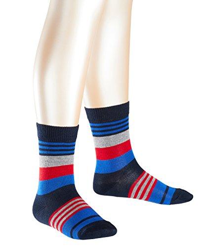 FALKE Jungen Socken Irregular Stripe, Mehrfarbig (Marine 6120), 31-34