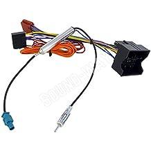 Adaptador ISO Opel Corsa/Combo/Meriva–Cable conector Autorradio con adaptador antena Fakra amplificado