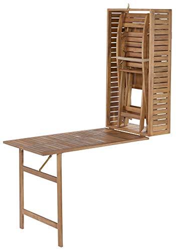 Baidani Linfano 5 in 1 Balkonset, braun, 107 x 65 x 29 cm -