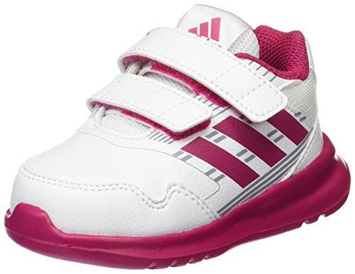 adidas Baby Mädchen Altarun CF Sneaker, Weiß (Footwear White/Bold Pink/Mid Grey 0), 20 - Mädchen Mid Sneakers