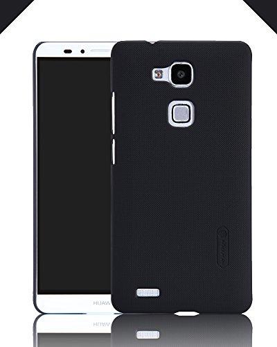 TopAce® Hochwertigem Cover Case / Hülle / Tasche/ Schutzhülle Für Huawei Ascend Mate 7 + Displayschutzfolie (Schwarz)