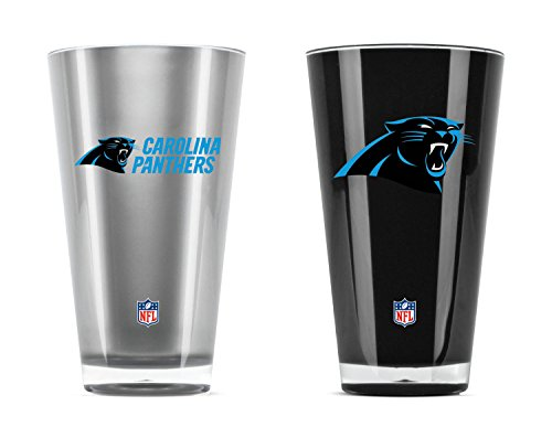 x isoliert Acryl Tumbler, Unisex, Insulated Acrylic Tumblers, Carolina Panthers, 20 Ounce Twin Pack Alt Color ()