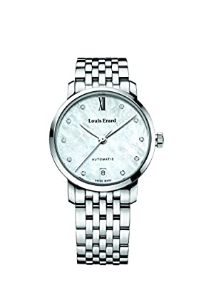 Louis Erard Excellence Collection Swiss Automatic White Pearl Dial Women's Watch 68235AA14.BMA34