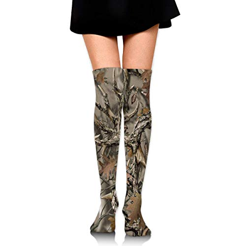 Realtree Camo Compression Socks Foot Long Strumpfs Knee High Socks for Men Women Supports Sport Running Cycling Football Slim Leg Travel Medical Nursing