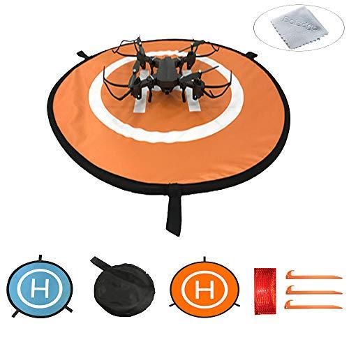 Boladge Grembiule per eliporto Impermeabile per atterraggio Veloce e Drone per quadricotteri di elicotteri telecomandati (55CM)