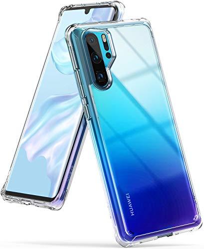 Ringke Fusion Designt für Huawei P30 Pro Hülle Transparent PC Rückseite Case [Antihaftschicht Dot Matrix Tech] Leicht TPU Rahmen Bumper Stoßfest Cover Schutzhülle für Huawei P30 Pro - Clear Dots Case Cover