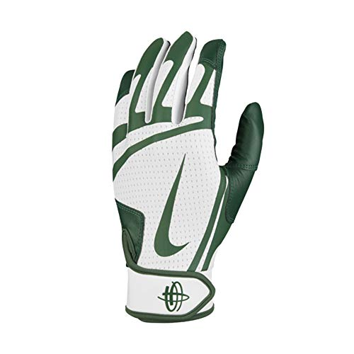 Nike Huarache Edge Baseball Handschuhe, Batting Gloves - weiß/grün Gr. L