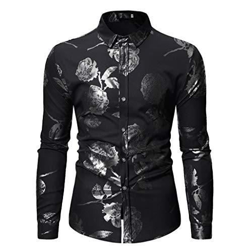 OPALLEY Herren Freizeit Mercerisierte Baumwolle Mehrfarbig Langarm Shirt Größe XS-XXXL