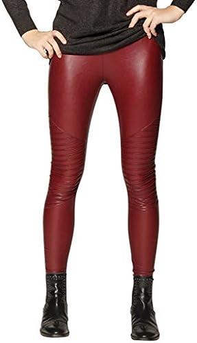 Biker Designer Leggings für Damen in 5 Farben by Sassyclassy  sanfte & bequeme Stretch-Hose in Leder-Optik   Größe...