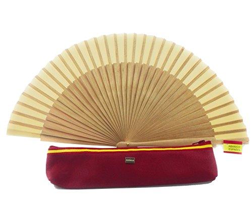 Zerimar Fundas fabricadas en piel para abanicos u otros usos Incluye bonito abanico Color de funda rojo