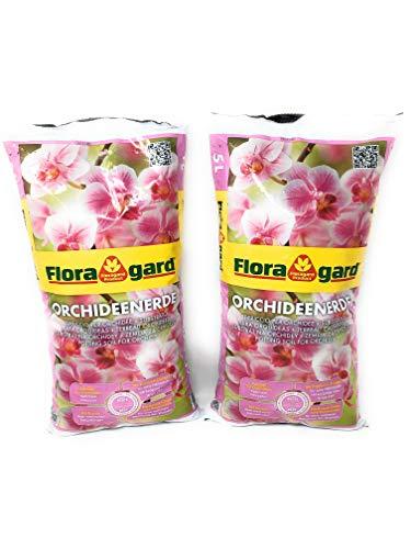 Landkaufhaus Orchideenerde torffrei 10 L • für Phalaenopsis und andere Orchideenarten • mit Premium-Dünger und Pinienrinde (2 x 5 L (10 L))