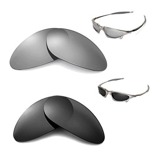 Walleva Polarized Titanium + Black Lenses for Oakley Penny