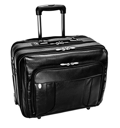 McKlein Herrentasche Laptoptasche Taschen auf Rädern Lasalle naturaleder 17