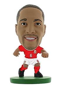 SoccerStarz SOC1046 - Figura del Equipo Nacional de Gales con Licencia Oficial de Ashley Williams