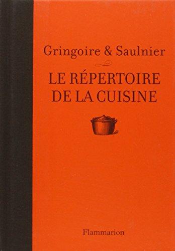 Le répertoire de la cuisine par T Gringoire