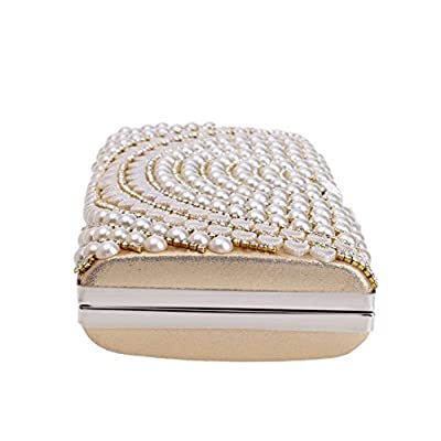 Fashion Ladies Clutches Banquets Pearls Evening Bags Mini Crossbody Small Square Bags - clutches
