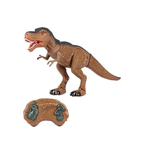 Tiranosaurio Rex Dinosaurio Teledirigido RC (Movimiento, Luz y Sonido) Iniciación Radio Control Remoto para Niños | T Rex Robot Juguete Interactivo