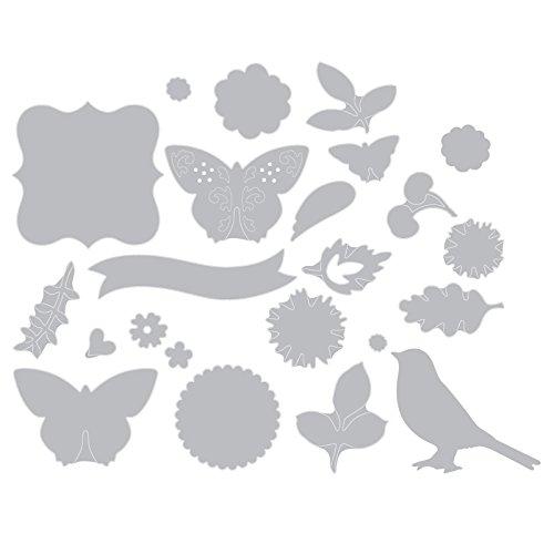 Sizzix Thinlits Fustella, Ghirlanda Floreale - 2