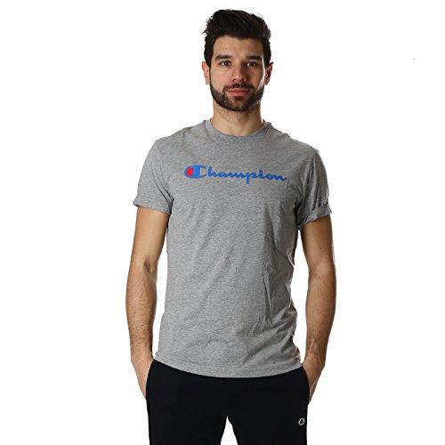 champion-t-shirt-ras-du-cou-pour-homme-taille-xxl-couleur-anthracite-209616-s16-gris-xl