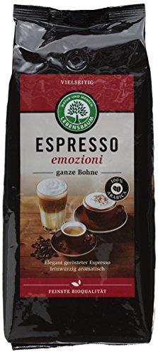 Lebensbaum Bio Espresso Emozioni, 1 kg - Dunkle Kaffee-bohnen Röstung Bio
