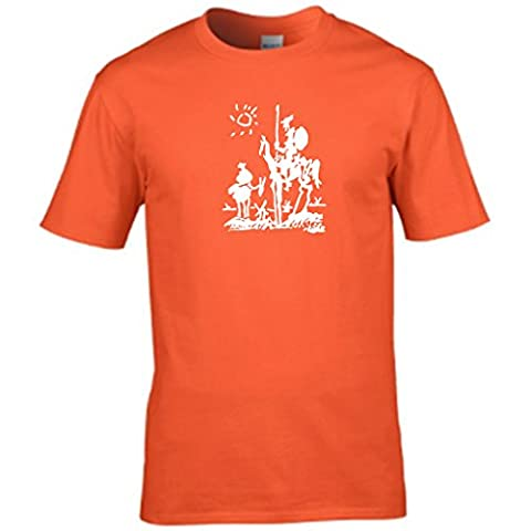 S Tees - T-shirt - Col Rond - Manches Courtes - Homme - orange - XX-Large