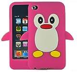 SKS Distribution EL-OG2J-3GOO Hot Pink Penguin Style Case Back Cover for Apple iPod Touch 4TH Gen Generation 4 4G Brand