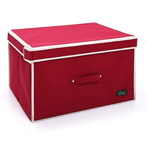 JINRONG Aufbewahrungsbox Kisten Mit Deckel Stapelboxen Premium Stoffbox Schubladen Organizer Falt BoxVliesstoffe Sind Einfach Und Von Hoher Qualität (Farbe : Red, größe : 30 * 40 * 50cm)