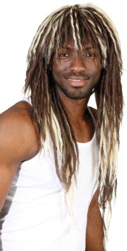 Afro Herren Perücke Dreads zum Rasta Kostüm Karneval (Rasta Dreads Kostüm)