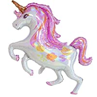 Party R Us Giant Standing Unicorn, Large Unicorn Foil Balloon (106cm or 41nch)