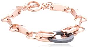 Mike Ellis New York Damen-Armband Edelstahl Acryl 19.0 cm S173 IPRG