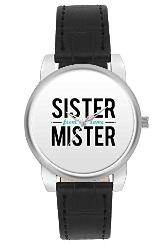Women's Watch, BigOwl Sister From The Same Mister Typography Designer Analog Wrist Watch For Women - Gifts for her dials