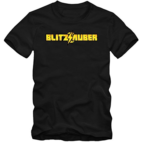 Blitzsauber T-Shirt | Astreine Leistung | Herren | Comic | Sprüche | Fun | Flash © Shirt Happenz Schwarz (Deep Black L190)