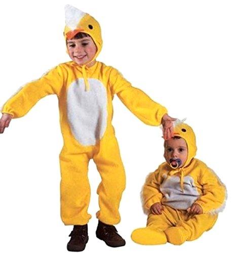 (Größe 110-3 - 4 Jahre - Kostüm - Verkleidung - Karneval - Halloween - Tier Küken - Gelb - Unisex - Kinder)