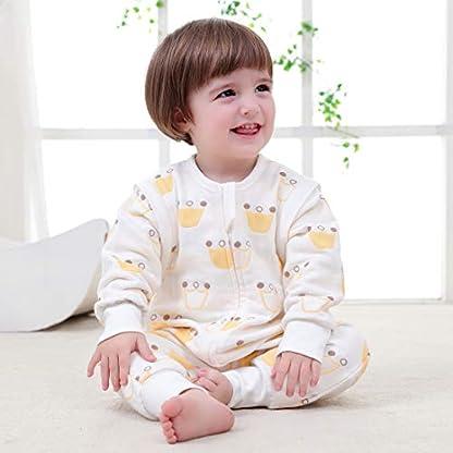 –Saco de Dormir para bebé Baby Pijama Invierno Pelele Split Pierna con Mangas extraíbles y algodón Cloud Pattern Soft Sleep Wear Blanco Blanco Talla:90cm(18-36 Monate)