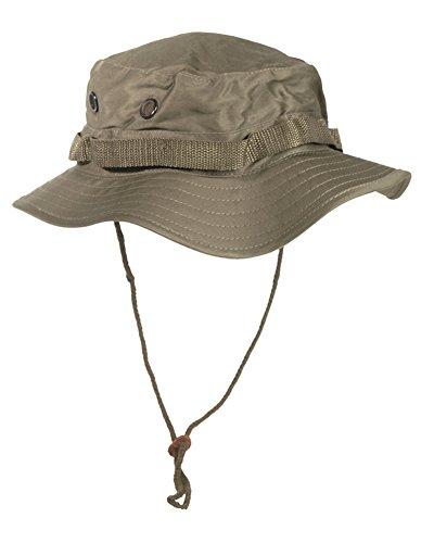 Mil-Tec US Dschungelhut Boonie Hat Buschhut Safariehut Tropenhut Schlapphut Mütze viele Farben S-XXL (57cm (Medium), Oliv) (Militär Xxl Hut)