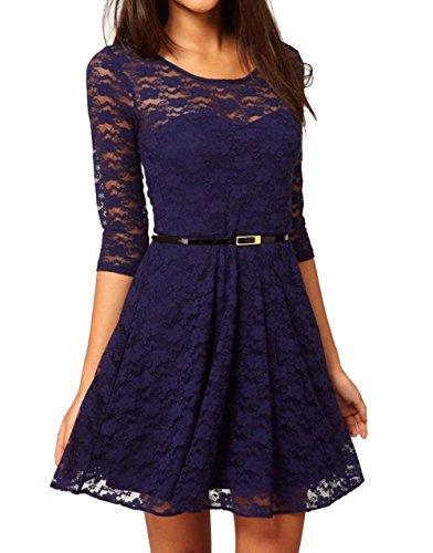 collection idya Babycat pizzo Mini vestito con punte gnaulm cocktail dell'abito Blu