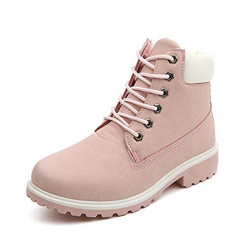 Damen Worker Boots Winterstiefel warme Stiefel Schoene Prinzessin Rosa Gr. 39