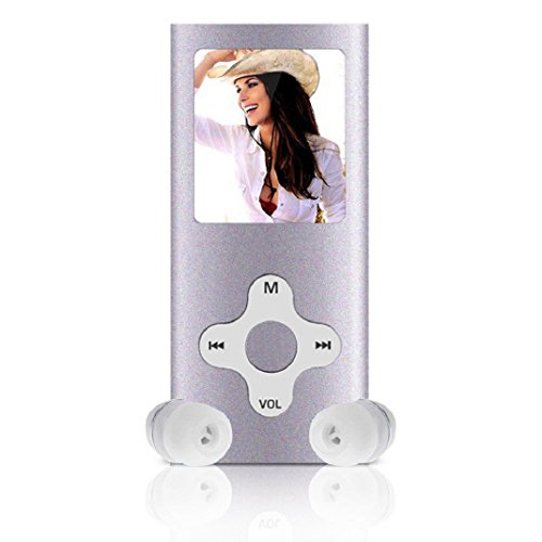 Amison 8GB Schlank digitale MP4 Player 1.8inch LCD Bildschirm FM Radio Video Games Film (Silber) -