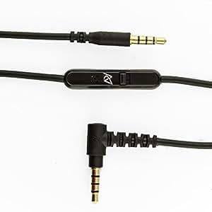 Câble télécommande/microphone HYBRIDE 3.5 mm Apple/Samsung Android pour V-Moda Crossfade LP, Crossfade M-80, Crossfade LP2, Parrot Zik, Parrot Zik 2.0 and PSB MSU 1 and 2 casques