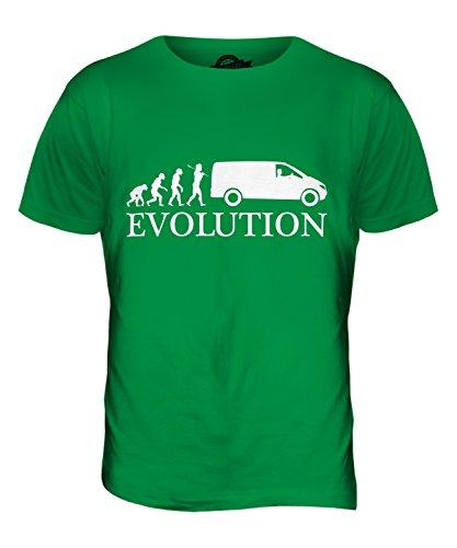CandyMix Guidatore Di Van Evoluzione Umana T-Shirt da Uomo Maglietta Verde