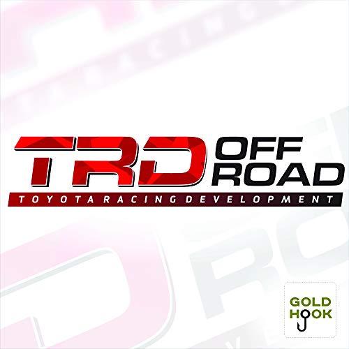 GOLD HOOK TRD Vinyl-Aufkleber, Toyota Truck Aufkleber, Tacoma-Entwicklungsteil, Autozubehör