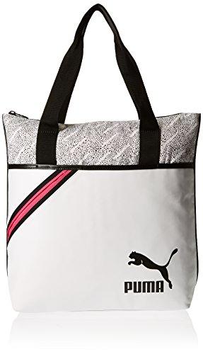 Puma White Printed Archive Shopper Bag