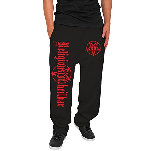 Männer und Herren Jogginghose 666 Religion ist heillbar Größe XS - 5XL