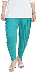 Soundarya Womens Cotton Lycra Harem Pants (Green)
