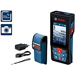 Bosch Professional Télémètre Connecté GLM 120 C ( 1 batterie Lithium-ion, 3,6 V, Portée 120 m, BluetoothTM Smart, Housse de protection)