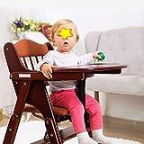 GBXX Mode Kreative Kleine Möbel Anti-Rutsch-Hocker Hochstühle Baby Esstisch Stühle Falten Multifunktionale Massivholz Sicherheitsgurt Sitz Multifunktionshaushalt Kreativ,Dunkler Kaffee,Aktualisieren