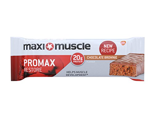 Maximuscle Promax High Protein Bar, 60 g – Chocolate Brownie, Pack of 12